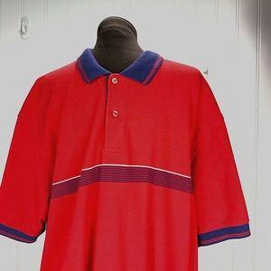 Izod Men VTG Polo Golf Shirt Big Tall 2XXL